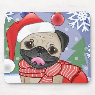 Winter & Christmas Time Pug Mouse Pad
