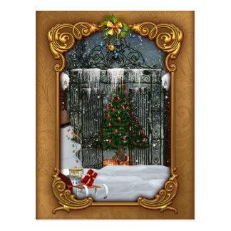 Winter Christmas Tree Postcard