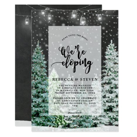 eloping invitation