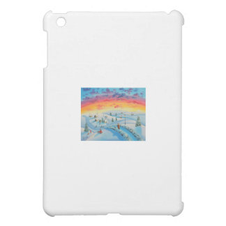Winter Christmas village painting by Gordon Bruce Case For The iPad Mini