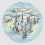 WINTER CHURCH by SHARON SHARPE Stickers