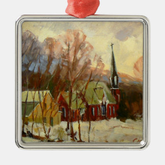 """Winter Church"" Tree Ornament"