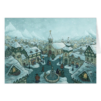 winter city Christmas note card Netherlands