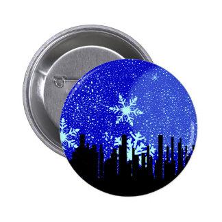 Winter Cityscape Background Button