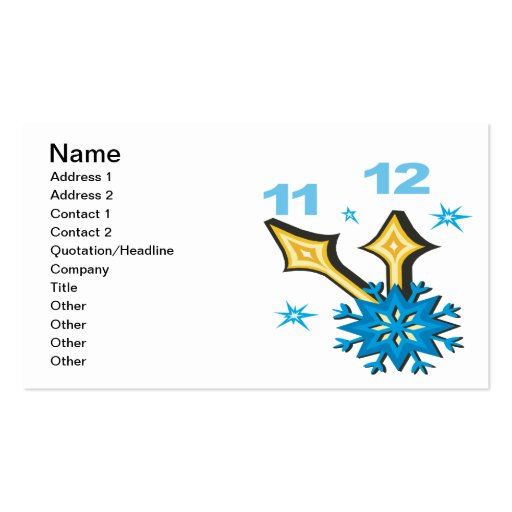 Winter Clock Double-Sided Standard Business Cards (Pack Of 100)
