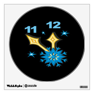 Winter Clock Wall Sticker