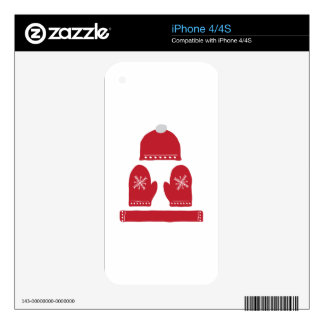 Winter Clothes Decal For iPhone 4