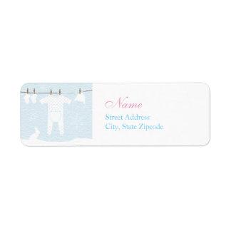 Winter Clothesline Baby Shower Address Label