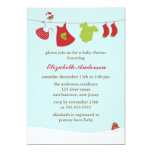 Winter Clothesline Baby Shower Announcements