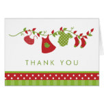 Winter Clothesline Thank You Cards
