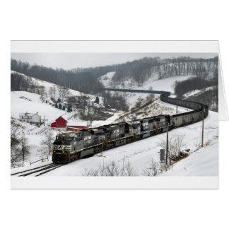 Winter Coal Train Cards
