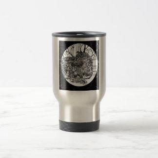 Winter Coat Black Travel Mug