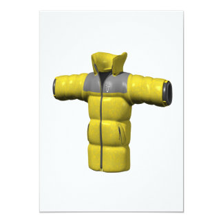 Winter Coat Yellow Card