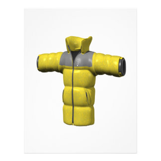 Winter Coat Yellow Personalized Flyer