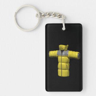 Winter Coat Yellow Keychain