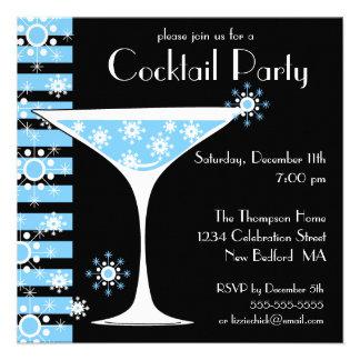 Winter CocktailParty Snowflake Martini Invitation