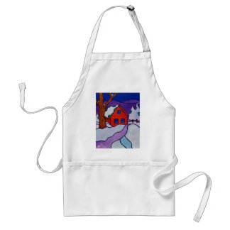 Winter Color by Piliero Adult Apron