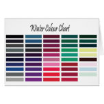 Winter Color Chart Greeting Card