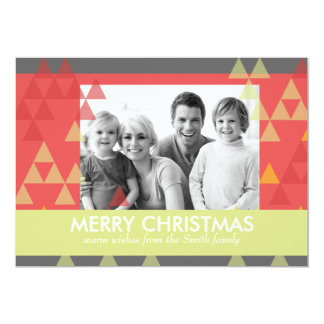 Winter Color Christmas Holiday Photo Card