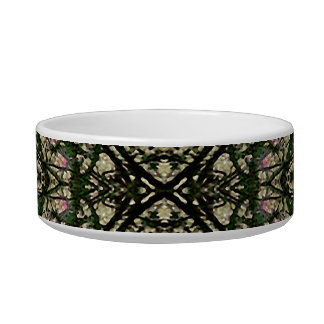 Winter Colors Collage Pet Water Bowls