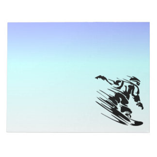 Winter Colors Fast Snowboarder Note Pads