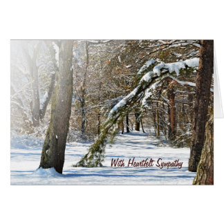 Winter Comfort for Sympathy Card