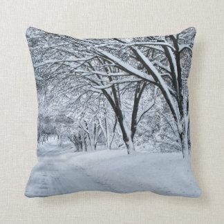 Winter Comfort Throw Pillow