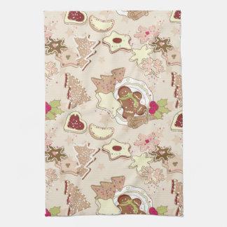 Winter Cookies Pattern Towel