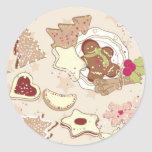 Winter Cookies Pattern Stickers