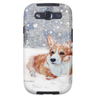 Winter Corgi Galaxy S3 Cover