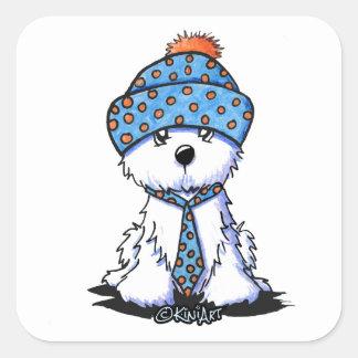 Winter Coton de Tulear Square Sticker