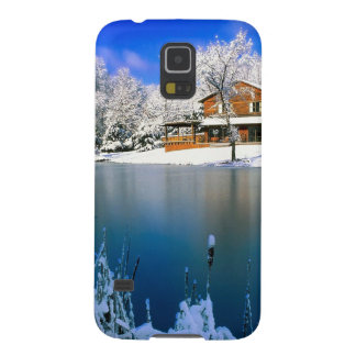Winter Country Retreat Galaxy S5 Cover