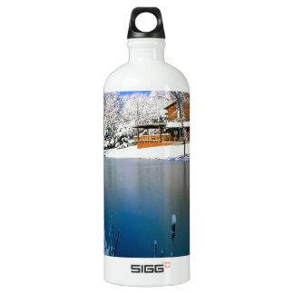 Winter Country Retreat Water Bottle