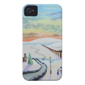 Winter countryside landscape Case-Mate iPhone 4 case