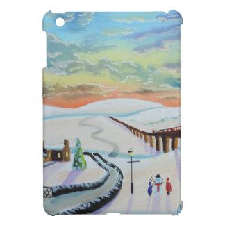 Winter countryside landscape iPad mini cover