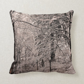 Winter Creek and Winter Forest Pillow