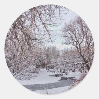 Winter Creek Classic Round Sticker