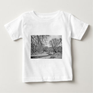 Winter Creek in Black and White Baby T-Shirt