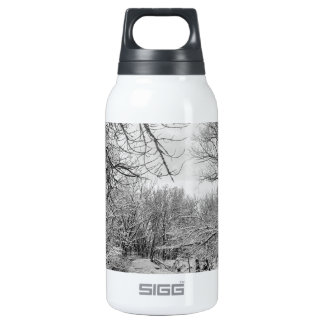 Winter Creek in Black and White Insulated Water Bottle