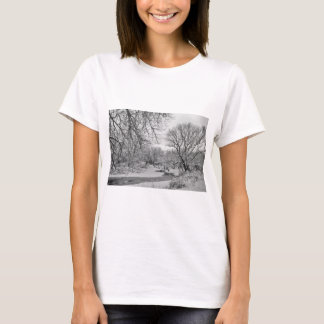 Winter Creek in Black and White T-Shirt