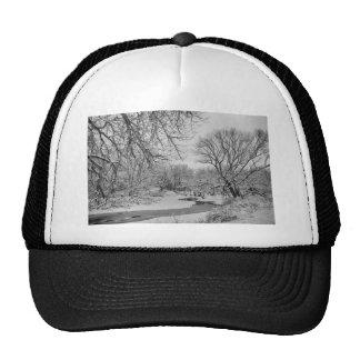 Winter Creek in Black and White Trucker Hat