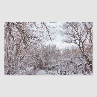 Winter Creek Rectangular Sticker