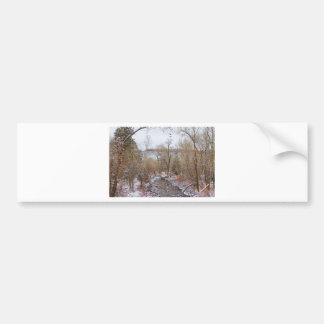 Winter Creek Red Rock Scenic Landscape View Bumper Sticker