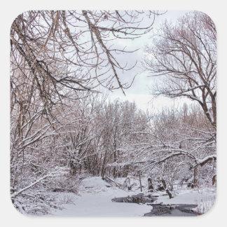 Winter Creek Square Sticker