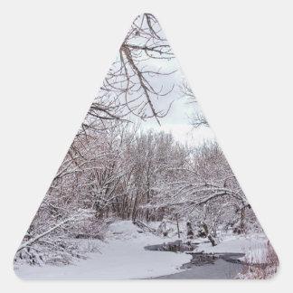 Winter Creek Triangle Sticker