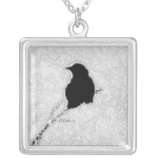 Winter Crow Silver Plated Necklace