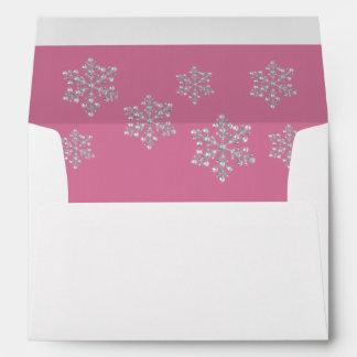 Winter Crystal 5X7 Envelope pink