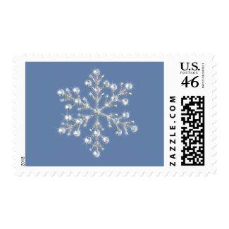 Winter Crystal Snowflake Stamp stamp