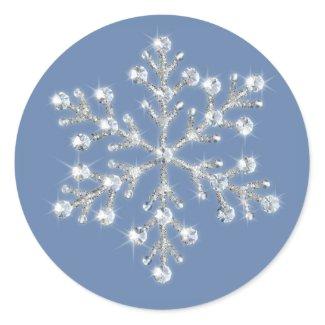 Winter Crystal Snowflake Sticker sticker
