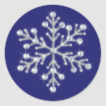 Winter Crystal Snowflake Sticker indigo